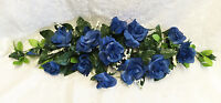 Navy Blue Swag Roses Silk Wedding Flowers Party Centerpieces Arch Decorations