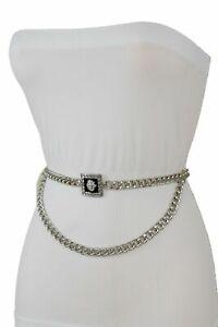 Mujer Hip Cintura Alta Blanco Pitillo Tela Cinturón de Moda Flor Grande