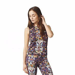 97854285e667ac Womens adidas Originals MARY KATRANTZOU Tank Top Sleeveless T-Shirt ...