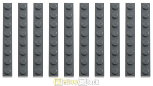 10x LEGO® 3460 1x8 Platte neu-dunkelgrau NEU dark bluish gray