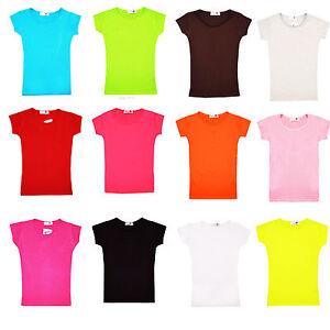 MINX-Girls-Plain-Short-Sleeve-Kids-Top-Children-Crew-Neck-Summer-T-Shirt-2-13-Y