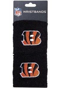 Brand-New-Cincinnati-Bengals-Wristbands-Sweatbands-Two-Pack-Black-NFL