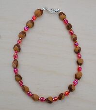 Navajo Ghost Cedar Beads Juniper Berry /& Onyx 8½ inch Bracelet by R Manygoats