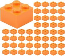 Lego 5 New Bright Light Orange Plates 2 x 6 Dot Pieces