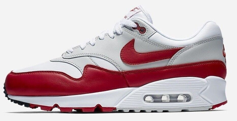 Nike air max 90 uomini / 1 og white università scarpe rosse - - aj7695 100 - nuova dimensione
