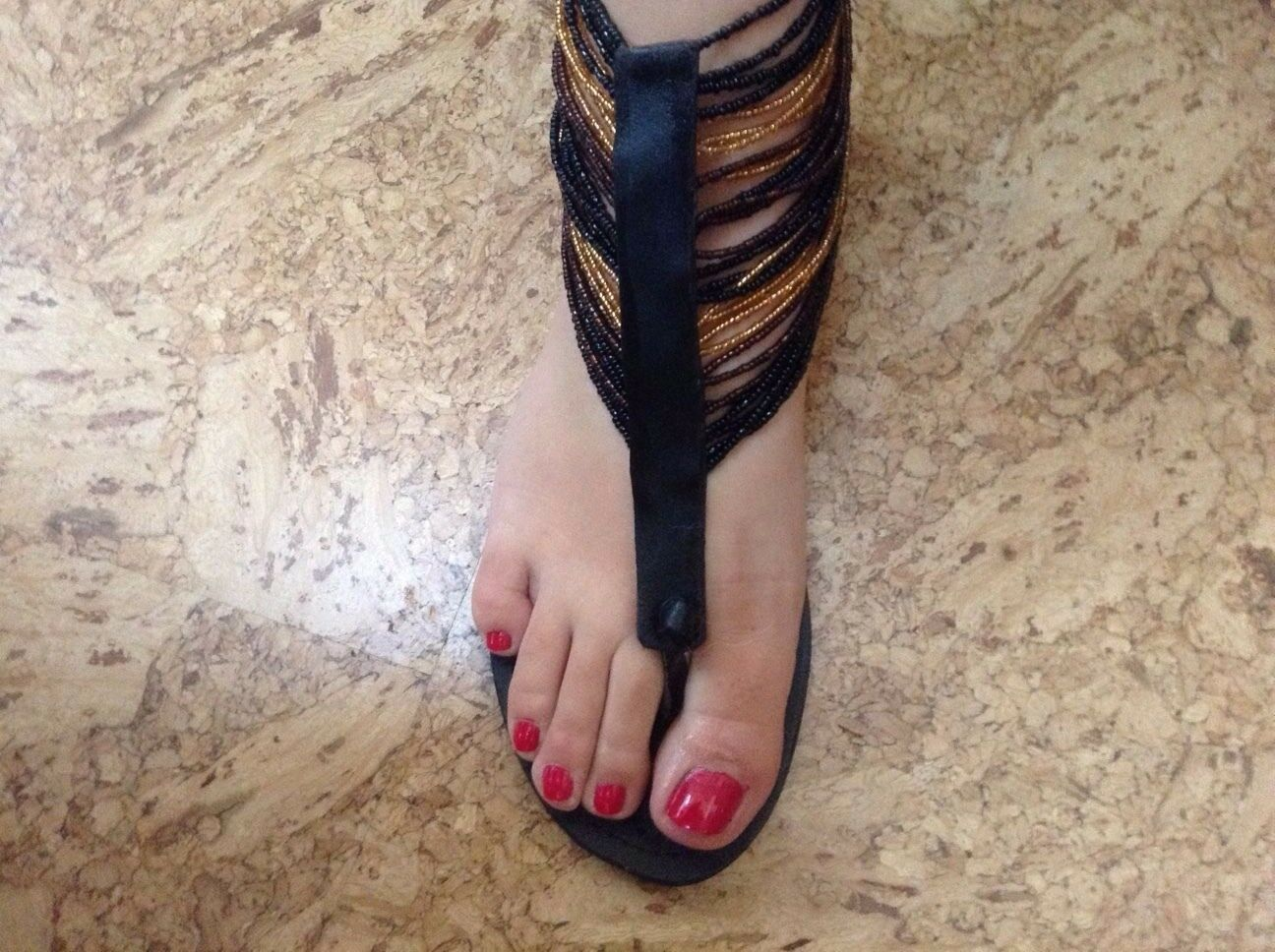 African-Arena Handmade Leather Sandals Brown Black Seed Beads 10