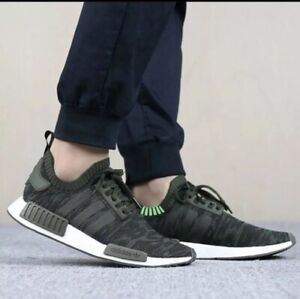 d3a0c48a8 Adidas NMD R1 PK Primeknit CQ2445 men s running Shoes Night Cargo ...