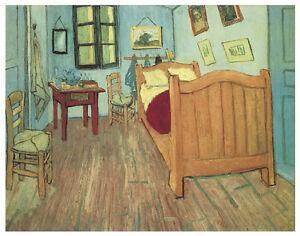 Dettagli su Van Gogh-Van Gogh camera da letto (1888) Arte Tela/Poster  Stampa a3/a2/a1- mostra il titolo originale
