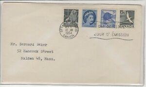 CANADA 1954 - 1961 FIRST DAY COVER QUEEN ELIZABETH WALRUS BEAVER & GANNET