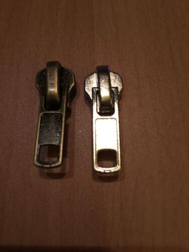 1 Stück Schieber für 7 mm Metall Reißverschlüsse      2 Farben zu Auswahl