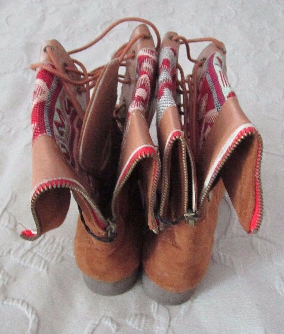 Chatties Southwest Southwestern Tall Indian Blanket Print Calf Tall Southwestern Stiefel Damenschuhe 9 23777d