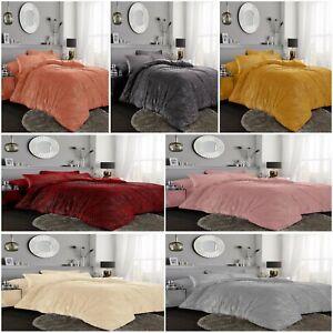 Teddy-Fleece-Chunky-Rib-Glitter-Duvet-Cover-Set-Warm-and-Cosy-Easy-Care-Bedding