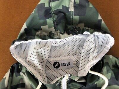 Raven Detecting Camo Windbreaker Jacket Size Medium