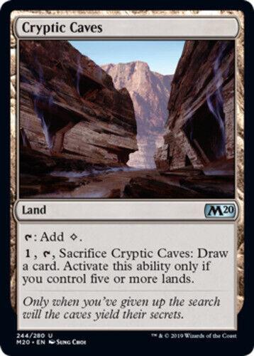 4x NM-Mint English Regular Cryptic Caves Core Set 2020 magicmtg
