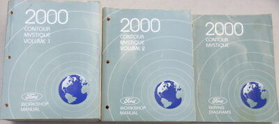 ford contour wiring diagram 2000 ford contour mystique workshop factory manuals with wiring  2000 ford contour mystique workshop