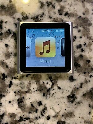 Apple Ipod Nano 6th Generation 8gb Silver Mc525ll Ebay