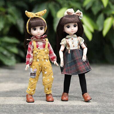 Full Set BJD Doll Handmade Flexible 14 Inches Lovely Girl Doll Eyes Gift Toy