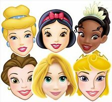 Princesses Disney variété Six (6) Paquet Amusant CARTE Masques De Visage Fête