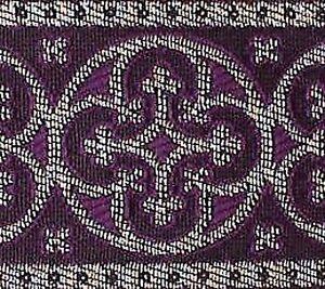 Metallic-Jacquard-Trim-Historic-Style-Silver-amp-Purple