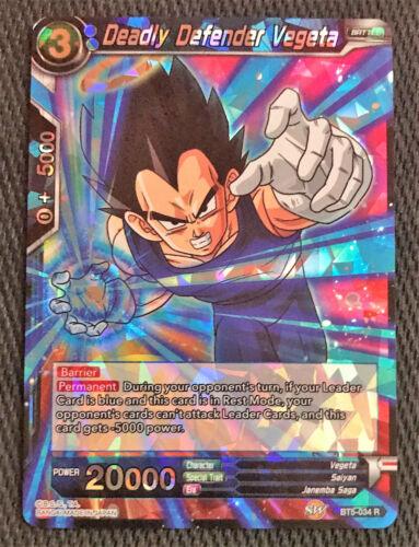 Deadly Defender Vegeta BT5-034 Rare Dragon Ball Super TCG Near Mint