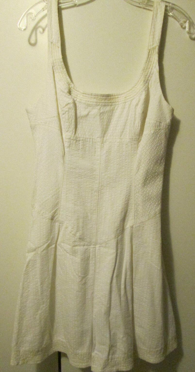 Free People Weiß Gelb Stitch Striped Mini Dress Sundress Größe 10 M NWT