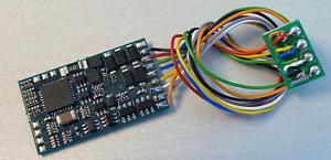 NEM652 Plug 2 Piece Appel lokdecoder Version 2020 DCC//mm 8-pol