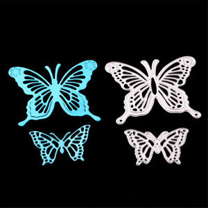 2pcs Butterflies Metal Cutting Dies for DIY Scrapbook Album Paper Cards Making R