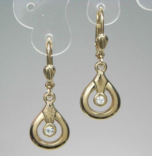 Neu OHRHÄNGER mit STRASSSTEINE kristallklar//klar OHRRINGE farbe gold STRASS