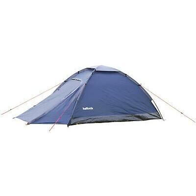 Halfords 2 Person XL Dome Outdoor Tent 210cm x 150cm With Porch Waterproof