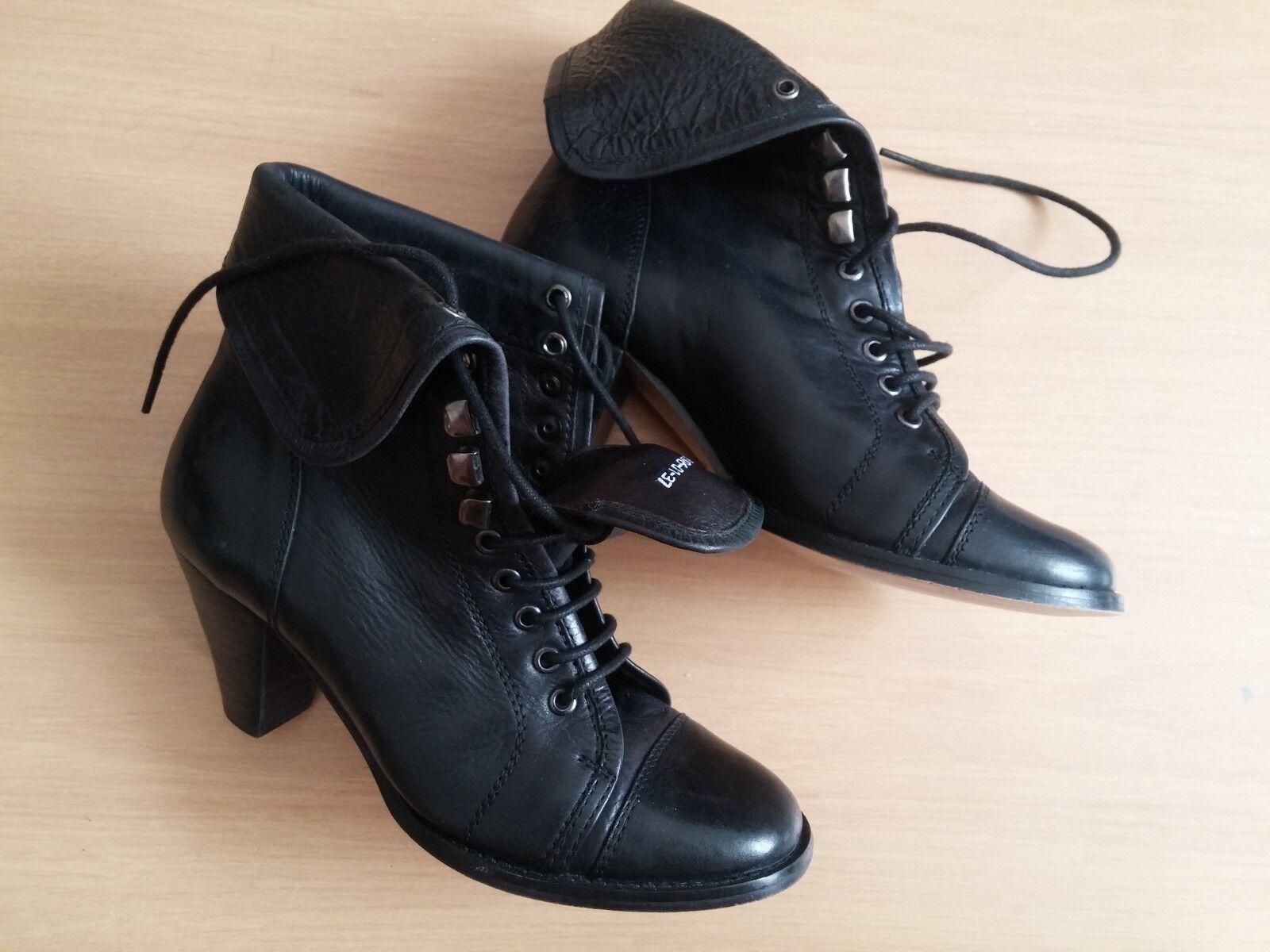 Damen Schuhe Stiefel Stiefeletten Stiefel Pumps Görtz Gr 37 UK 4 schwarz Leder