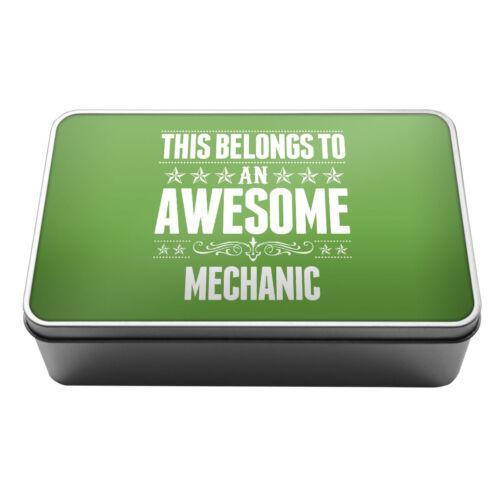 Cela appartient à une impressionnante mécanicien de conservation en métal tin box 116