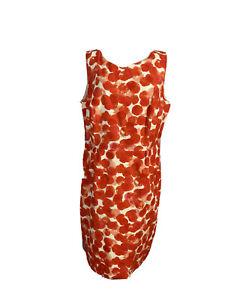 Sportscraft Womens Size 18 A - Line Midi Red / White Sleeveless Dress