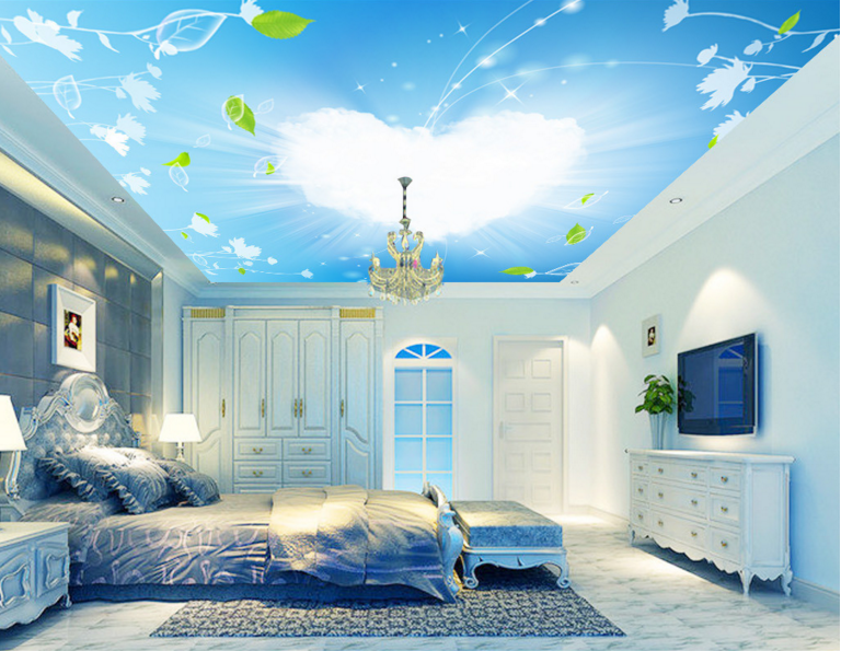 3D Cute Clouds Vine 72 Wall Paper Wall Print Decal Wall Deco AJ WALLPAPER Summer