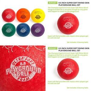 Details about Champion Sports Playground Ball Set: Six Large Rhino Skin  Assorted (8 5