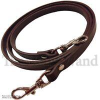 3/8 Brown Top Grain Leather Skinny Cross Body Replacement Handbag Purse Strap