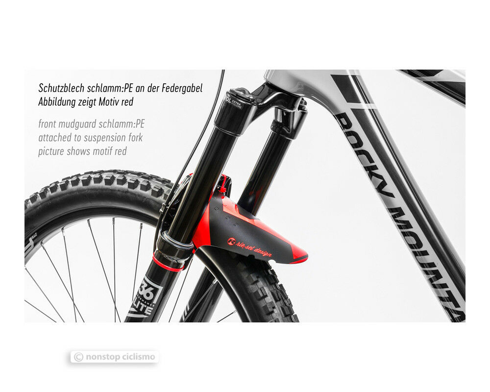 ALL COLORS Riesel Design KOLOSS Plus Sized Front Fork MTB Mud Fender +