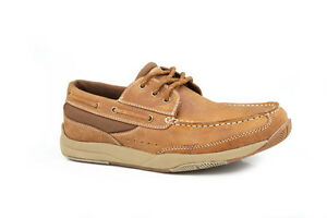 ROPER-Men-039-s-Casual-Lace-up-Shoes-Tan-20662278-New