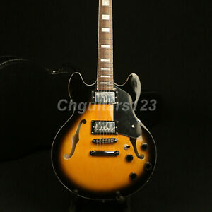Semi-Hollow-Body-339-Electric-Guitar-VS-Color-Grover-Tuner-BackTop-Flamed-Maple
