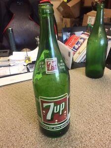 7up bottle Vintage one pint