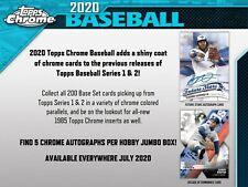 2020 Topps Chrome Baseball Jumbo HTA Box (Presale)
