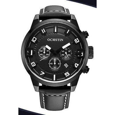Herrenuhr Chronograph  Ochstin Back to Black  46mm Datum Sportuhr Neu Uhrenbox