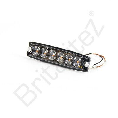 Britalitez UK 3 LED Ultra Slim WHITE LED Strobe Warning Lamp Ultra Small