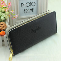 New Style Women PU Leather Wallet Zip Around Case Purse Card Money Long Big Bag