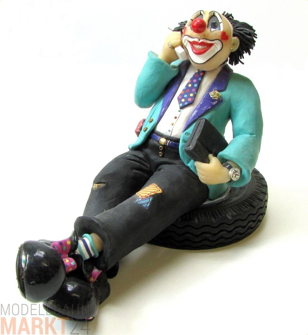 PAGLIACCIO personaggio IVECO venditore con telefono su gomma PNEUMATICI pianerossotolo 25x14x19 cm