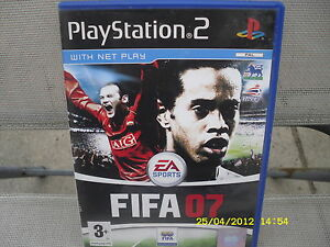Charmant Fifa 07 Playstation 2 Game-afficher Le Titre D'origine