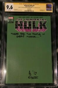 Immortal-HULK-25-1-200-Green-Variant-SS-CGC-9-6-NM-Signed-by-Al-Ewing