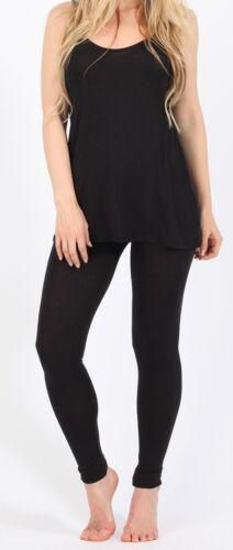 Ladies Loungewear Set cami top leggings Playsuit Lounge set BLACK NEW 8 10 12