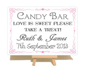 Personalised-Swirly-Candy-Bar-Cart-Wedding-Metal-Shabby-Chic-Style-Plaque-Sign
