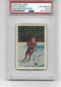 PAUL-MEGER-1952-52-PARKHURST-MONTREAL-CANADIENS-PSA-AUTHENTIC-AUTOGRAPH-CARD