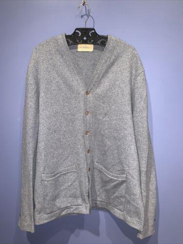 Mens Large Wool Sweater Cardigan Vintage Catalina